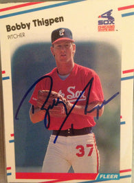Bobby Thigpen Signed 1988 Fleer Baseball Card - Chicago White Sox