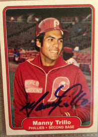 Manny Trillo Signed 1982 Fleer Baseball Card - Philadelphia Phillies
