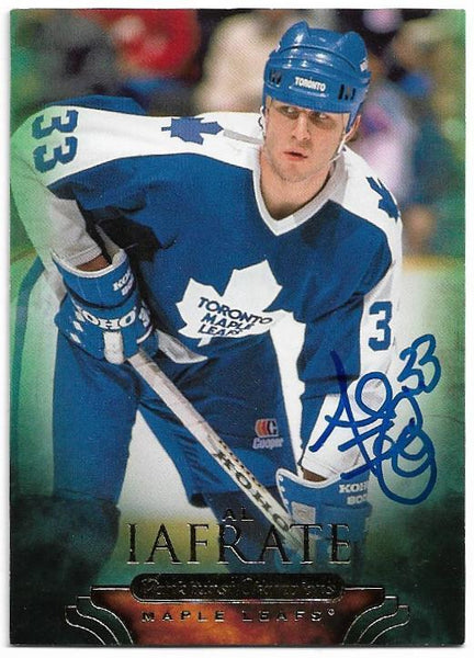 Al Iafrate Signed 2011-12 Upper Deck Parkhurst Champions Hockey Card - Toronto Maple Leafs
