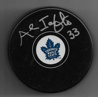 Al Iafrate Signed Hockey Puck - Toronto Maple Leafs