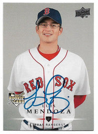 Luis Mendoza Signed 2008 Upper Deck Baseball Card - Texas Rangers - PastPros