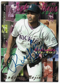 Roberto Mejia Signed 1995 Fleer Baseball Card - Colorado Rockies - PastPros