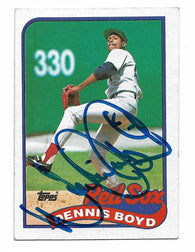 Dennis 'Oil Can' Boyd Signed 1989 Topps Baseball Card - Boston Red Sox