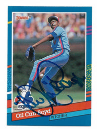 Dennis 'Oil Can' Boyd Signed 1991 Donruss Baseball Card - Montreal Expos