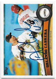 Orlando Cabrera Signed 2011 Topps Baseball Card - San Francisco Giants - PastPros