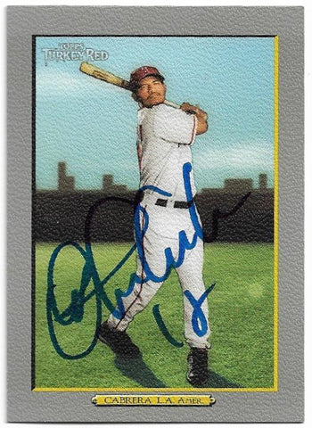 Orlando Cabrera Signed 2005 Topps Turkey Red Baseball Card - Anaheim Angels - PastPros