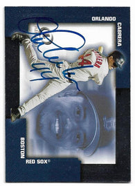 Orlando Cabrera Signed 2004 Fleer Legacy Baseball Card - Boston Red Sox