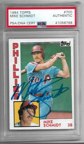 Mike Schmidt Signed 1984 Topps Baseball Card - PSA/DNA