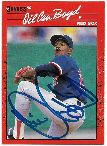 Dennis 'Oil Can' Boyd Signed 1990 Donruss Baseball Card - Boston Red Sox - PastPros
