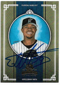 Guillermo Mota Signed 2005 Donruss Diamond Kings Baseball Card - Florida Marlins - PastPros