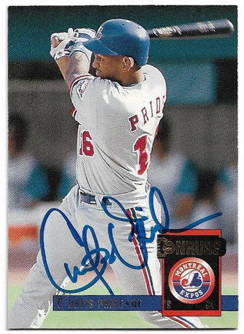 Curtis Pride Signed 1994 Donruss Baseball Card -  Montreal Expos