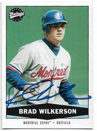 Brad Wilkerson Signed 2004 Upper Deck Vintage Baseball Card - Montreal Expos - PastPros