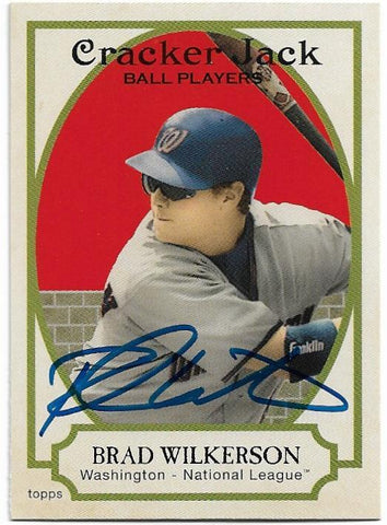 Brad Wilkerson Signed 2005 Topps Cracker Jack Baseball Card - Washington Nationals - PastPros