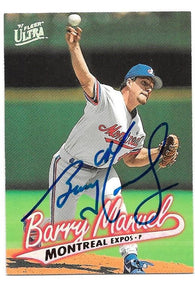 Barry Manuel Signed 1998 Ultra Baseball Card - Montreal Expos