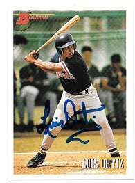 Luis Ortiz Signed 1993 Bowman Baseball Card - Boston Red Sox