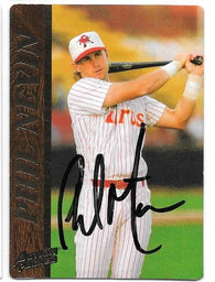 Phil Nevin Signed 1995 Action Packed Baseball Card