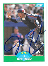 Jeff Reed Signed 1989 Score Baseball Card - Montreal Expos - PastPros