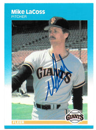 Mike LaCoss Signed 1987 Fleer Baseball Card - San Francisco Giants