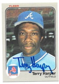 Terry Harper Signed 1983 Fleer Baseball Card - Atlanta Braves - PastPros