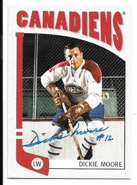 Dickie Moore Signed 2004-05 ITG Franchises Hockey Card - Montreal Canadiens