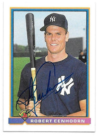 Robert Eenhoorn Signed 1991 Bowman Baseball Card - New York Yankees
