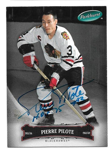 Pierre Pilote Signed 2006-07 Parkhurst Hockey Card - Chicago Blackhawks