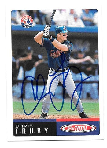 Chris Truby Signed 2002 Topps Total Baseball Card - Montreal Expos - PastPros