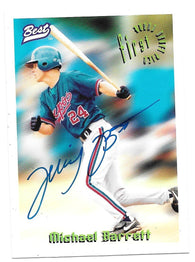Michael Barrett Signed 1995 Best Baseball Card - Montreal Expos - PastPros