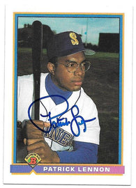 Patrick Lennon Signed 1991 Bowman Baseball Card - Seattle Mariners