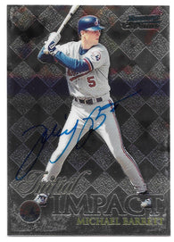 Michael Barrett Signed 1999 Bowman Chrome Initial Impact Baseball Card - Montreal Expos - PastPros
