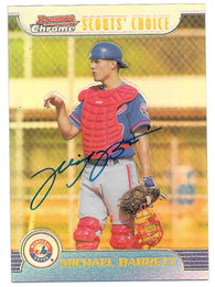 Michael Barrett Signed 1999 Bowman Chrome Scouts' Choice Baseball Card - Montreal Expos - PastPros