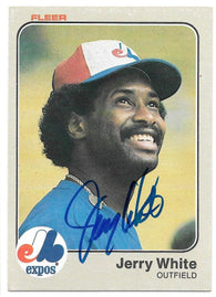 Jerry White Signed 1983 Fleer Baseball Card - Montreal Expos