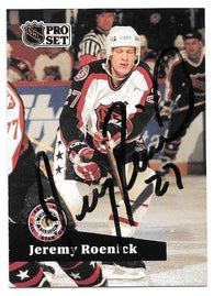Jeremy Roenick Signed 1991-92 Pro Set Hockey Card - Chicago Blackhawks A/S