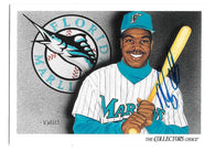 Nigel Wilson Signed 1993 Upper Deck Baseball Card - Florida Marlins #825