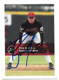 Ryan Minor Signed 2000 Just Baseball Card - Rochester Red Wings - PastPros