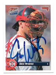 Eric Wedge Signed 1993 Donruss Baseball Card - Boston Red Sox