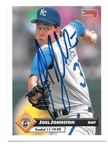 Joel Johnston Signed 1993 Donruss Baseball Card - Pittsburgh Pirates