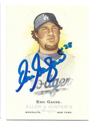 Eric Gagne Signed 2006 Allen & Ginter Baseball Card - Los Angeles Dodgers