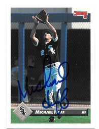 Michael Huff Signed 1993 Donruss Baseball Card - Chicago White Sox
