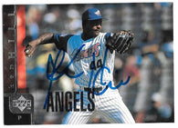 Ken Hill Signed 1998 Upper Deck Baseball Card - Anaheim Angels - PastPros