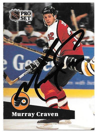 Murray Craven Signed 1991-92 Pro Set Hockey Card - Philadelphia Flyers