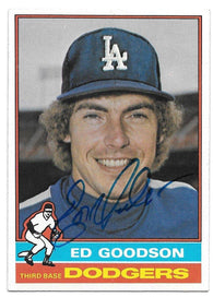 Ed Goodson Signed 1976 Topps Baseball Card - Los Angeles Dodgers