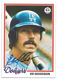Ed Goodson Signed 1978 Topps Baseball Card - Los Angeles Dodgers