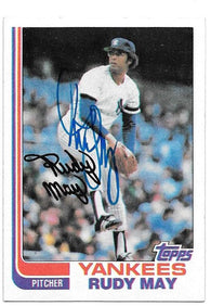 Rudy May Signed 1982 Topps Baseball Card - New York Yankees - PastPros
