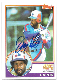 Jerry White Signed 1983 Topps Baseball Card - Montreal Expos