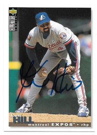 Ken Hill Signed 1995 Collector's Choice Baseball Card - Montreal Expos