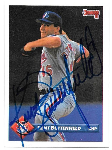 Kent Bottenfield Signed 1993 Donruss Baseball Card - Montreal Expos