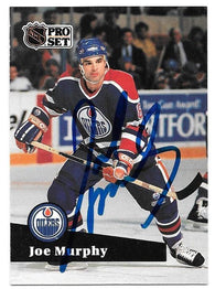 Joe Murphy Signed 1991-92 Pro Set Hockey Card - Edmonton Oilers