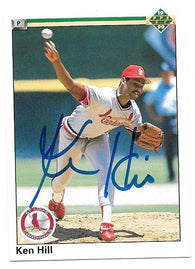 Ken Hill Signed 1990 Upper Deck Baseball Card - St Louis Cardinals - PastPros