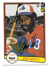 Jerry White Signed 1982 Donruss Baseball Card - Montreal Expos